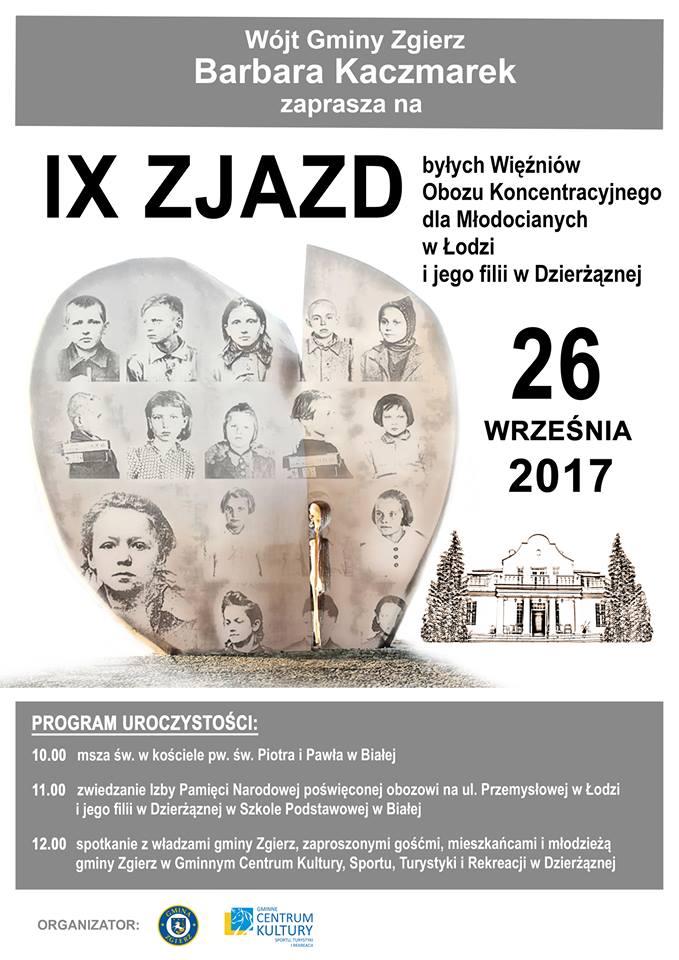 IX Zjazd byłych Więźniów Obozu Koncentracyjnego dla Młodocianych w Łodzi i jego filii w Dzierżąznej
