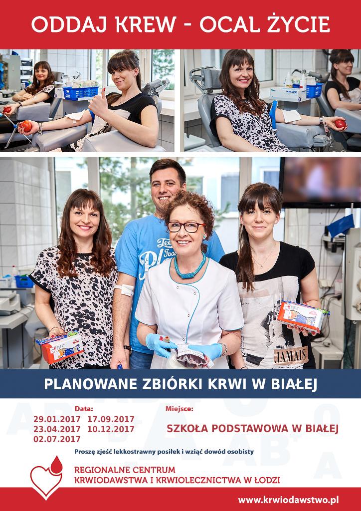 Akcja honorowego oddawania krwi w Białej