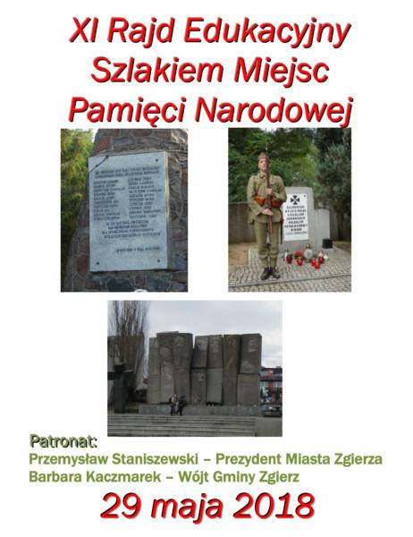 XI Rajd Edukacyjny Szlakiem Miejsc Pamięci Narodowej