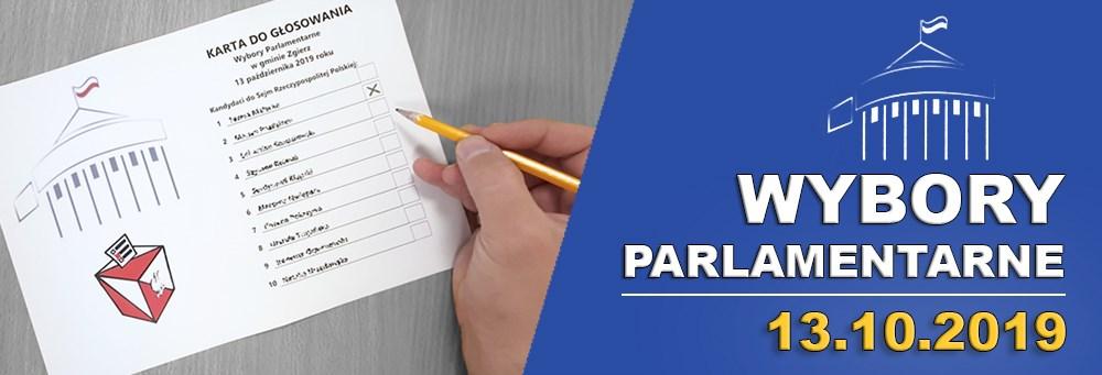 Hiperłącze do serwisu o wyborach parlamentarnych w Biuletynie Informacji Publicznej Gminy Zgierz