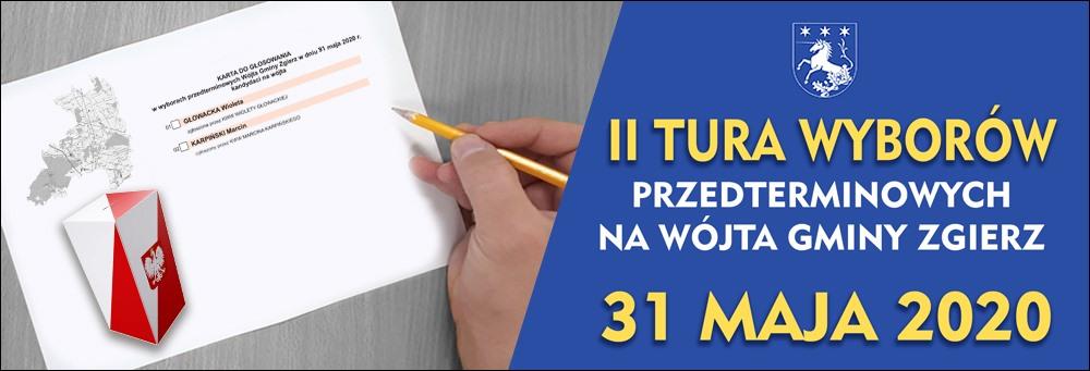 Hiperłącze do Biuletynu Informacji Publicznej z informacjami dotyczącymi wyborów przedterminowych Wójta Gminy Zgierz w dniu 17 maja 2020 r.