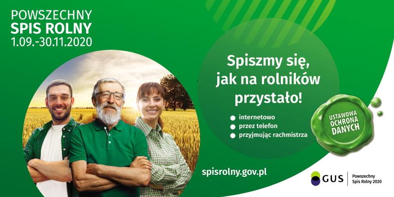 Baner promocyjny spisu rolnego w 2020 roku